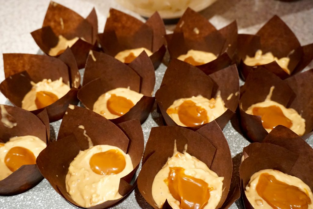 Toffee Apple Muffins with Caramel Middle