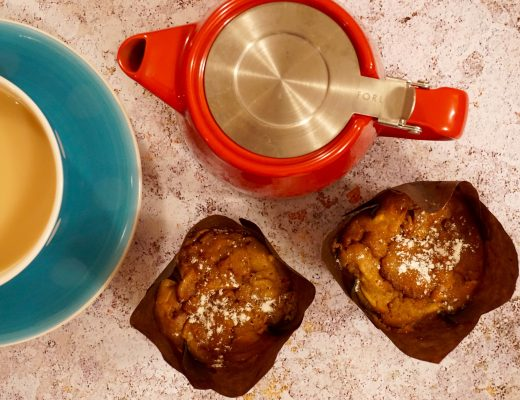 Toffee Apple Muffins with a Cup of Tea