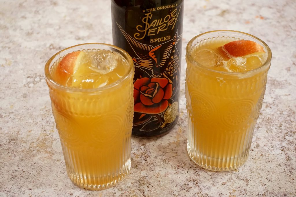Apple and Rum Cocktail with Sailor Jerry Spiced Rum