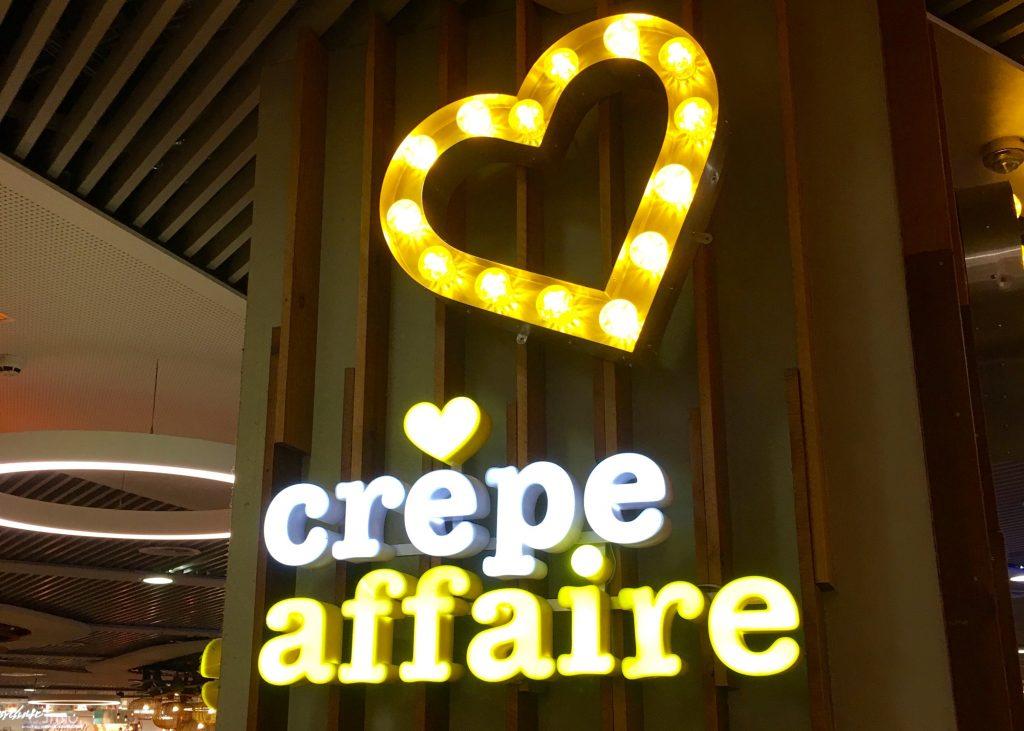 Crepeaffaire Sign Birmingham