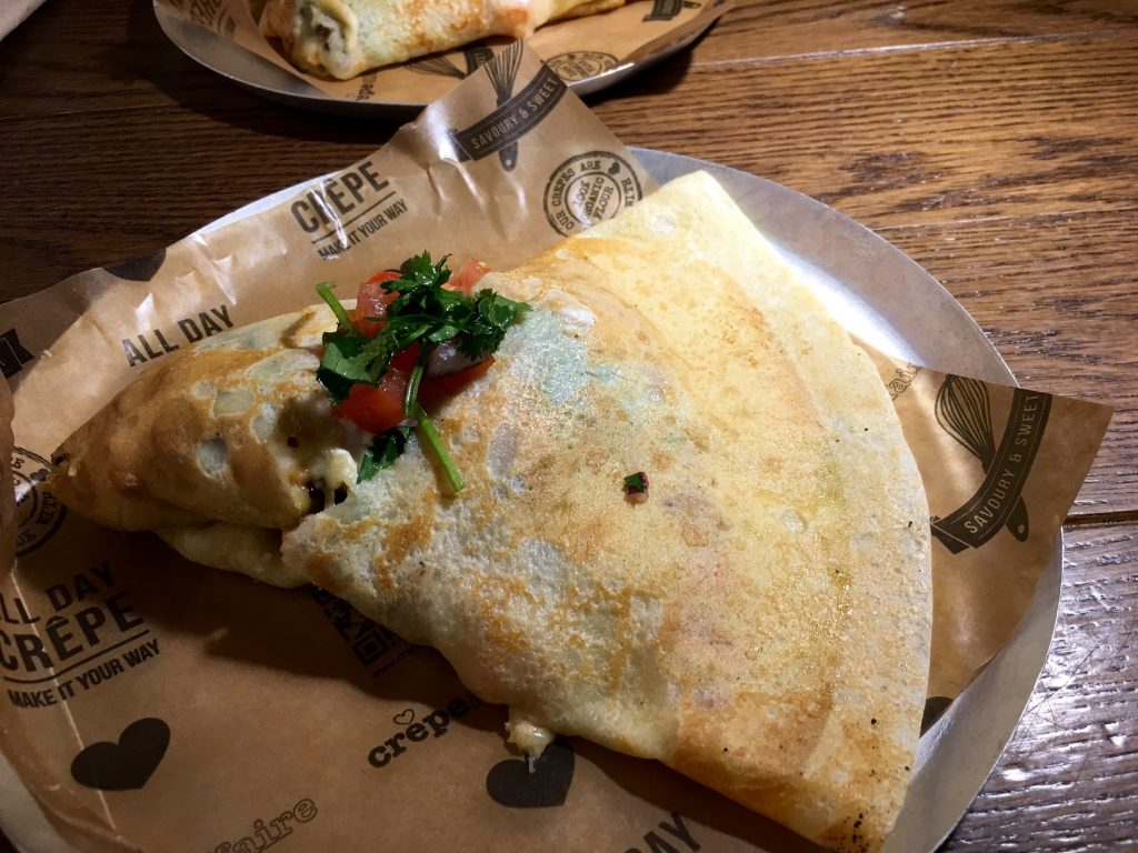 Mexican Chicken Crepe at Crepeaffaire