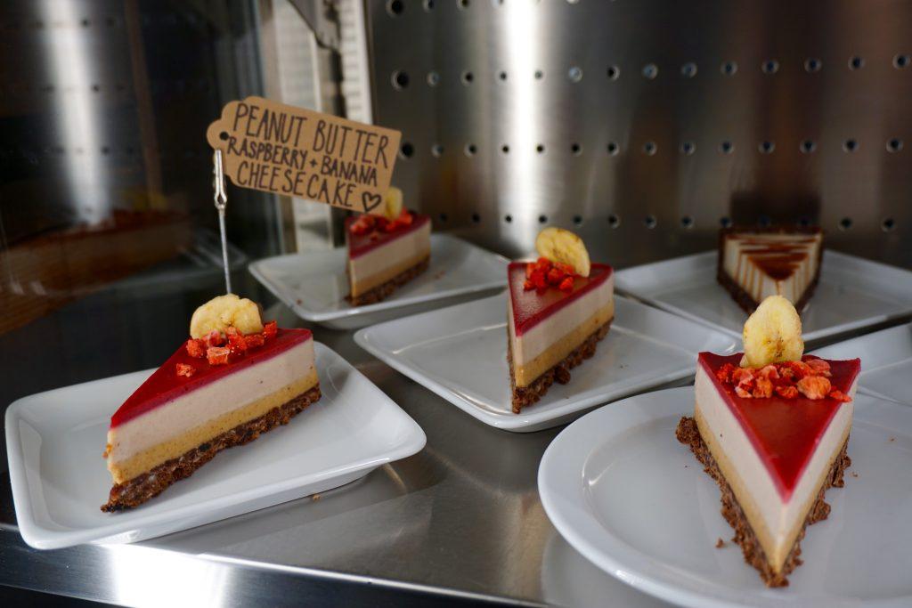 Natural Healthy Foods Vegan Cheesecake on Display