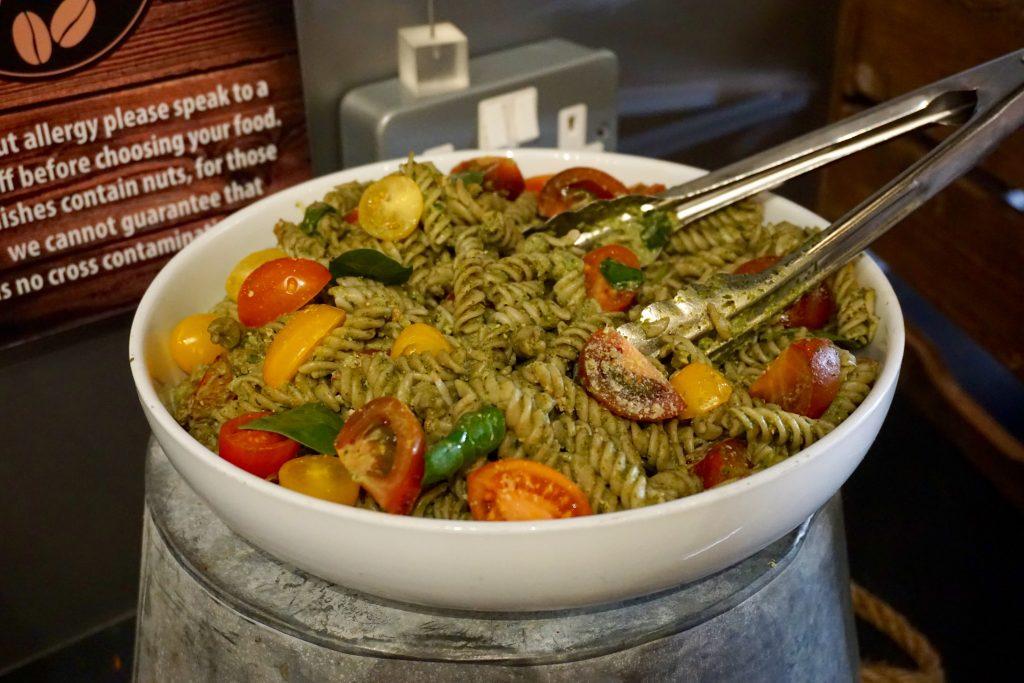 Pesto Pasta on Display at Natural Healthy Foods