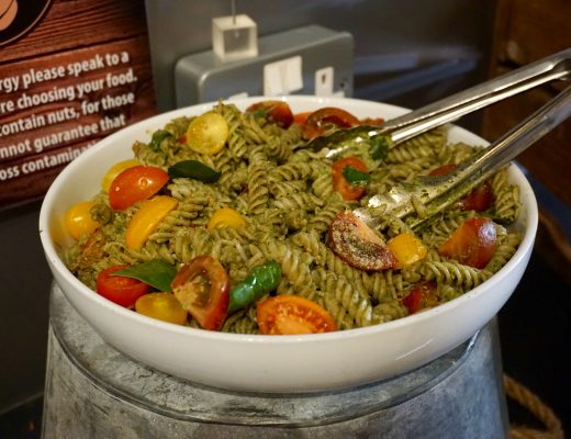 Pesto Pasta on Display at Natural Healthy Foods
