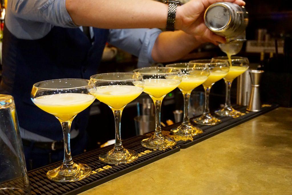 Sabai Sabai Cocktails being made along the bar