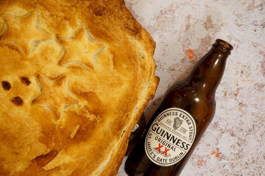 Close Up of Steak and Guinness Pie