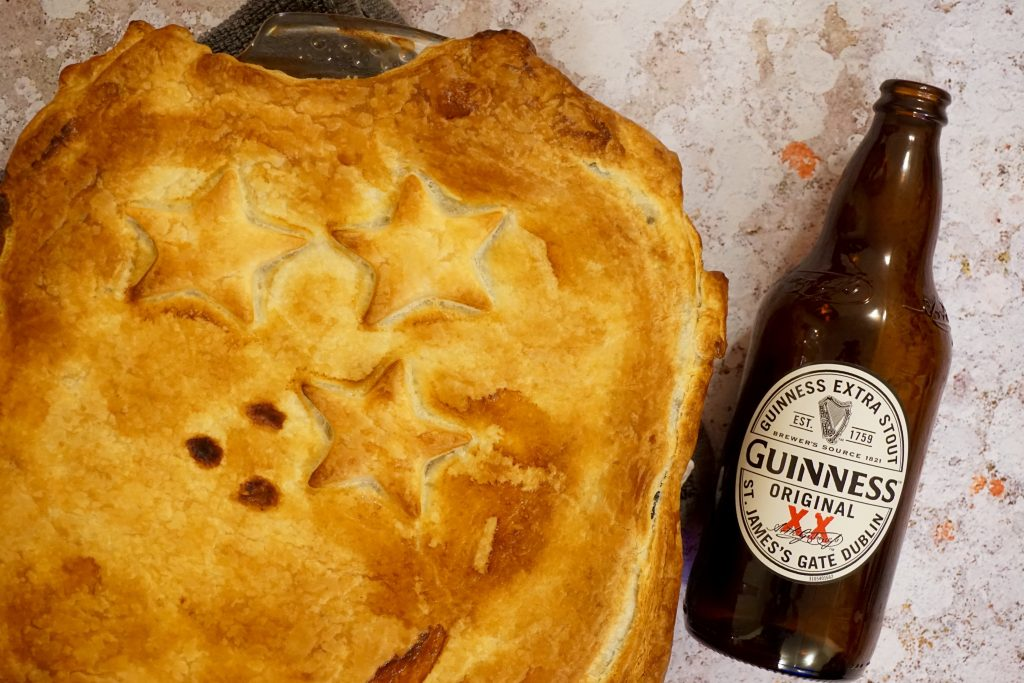 Steak and Guinness Pie Fresh From Oven