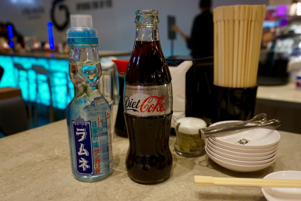 YO! Sushi Drinks including Diet Coke