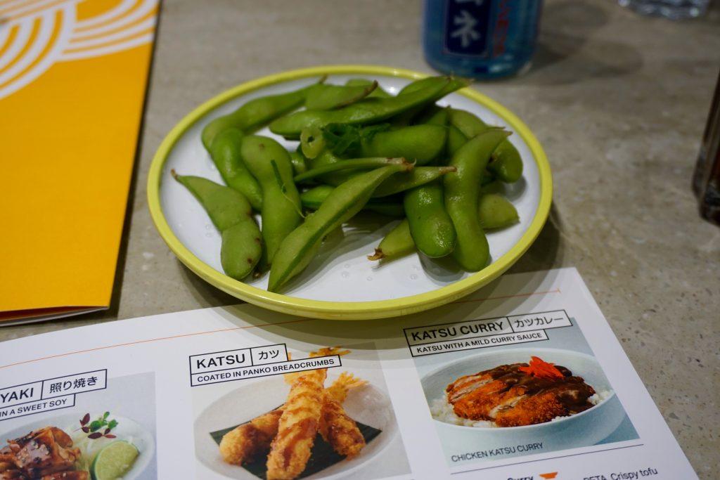 YO! Sushi Grey Bowl - Edamame Beans