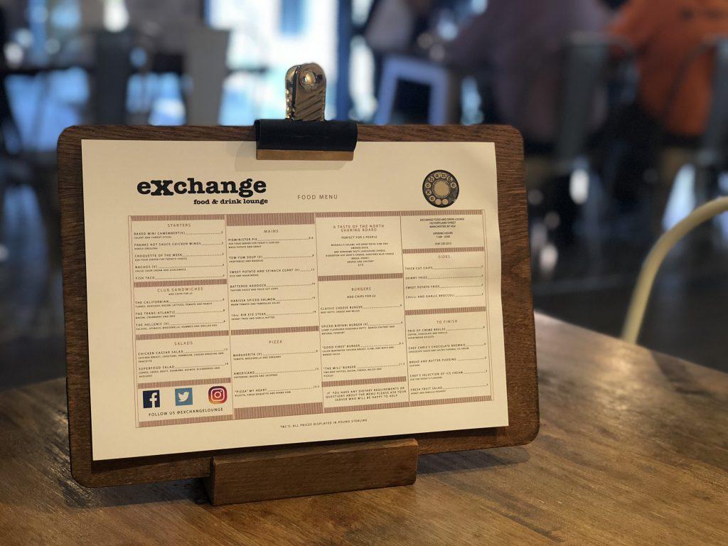 eXchange-Lounge-Manchester-Menu