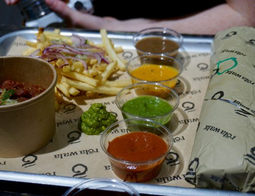 Rola-Wala-Selfridges-Birmingham-Tray-and-Dips