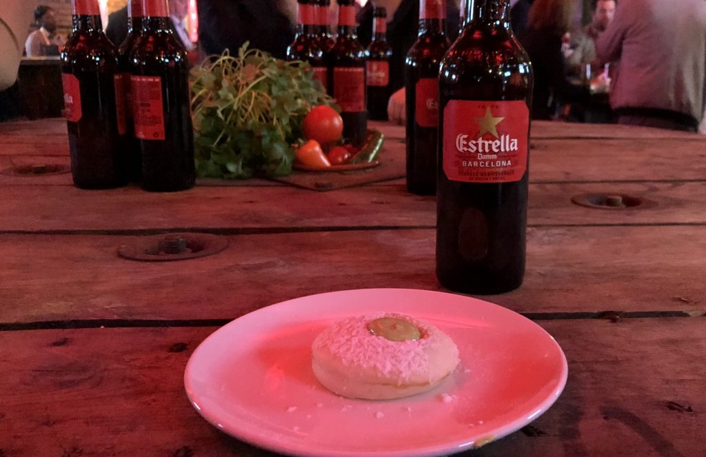 Estrella-Damm-Beer-and-Tapas-on-plate