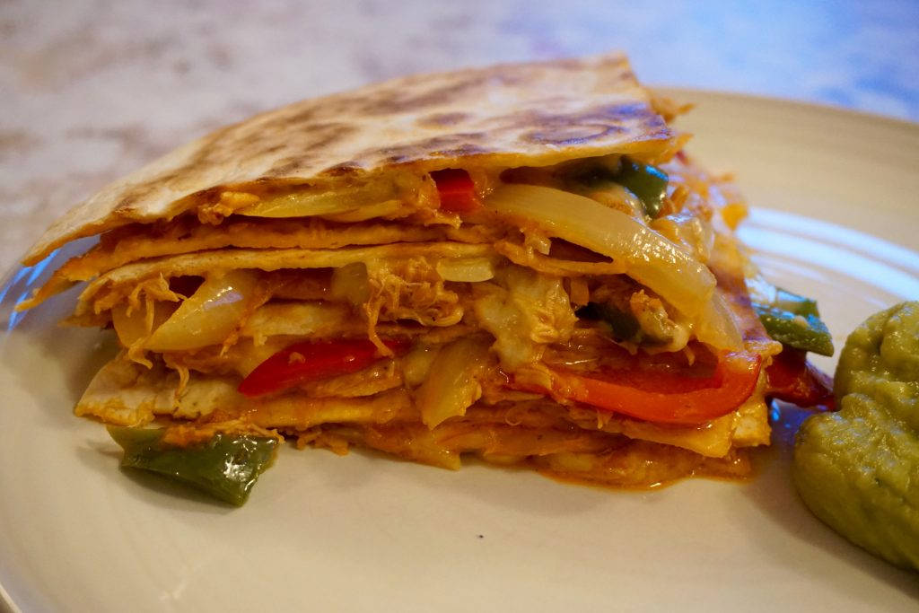 Mexican-Monday-Pulled-Chicken-Quesadilla-Up-Close
