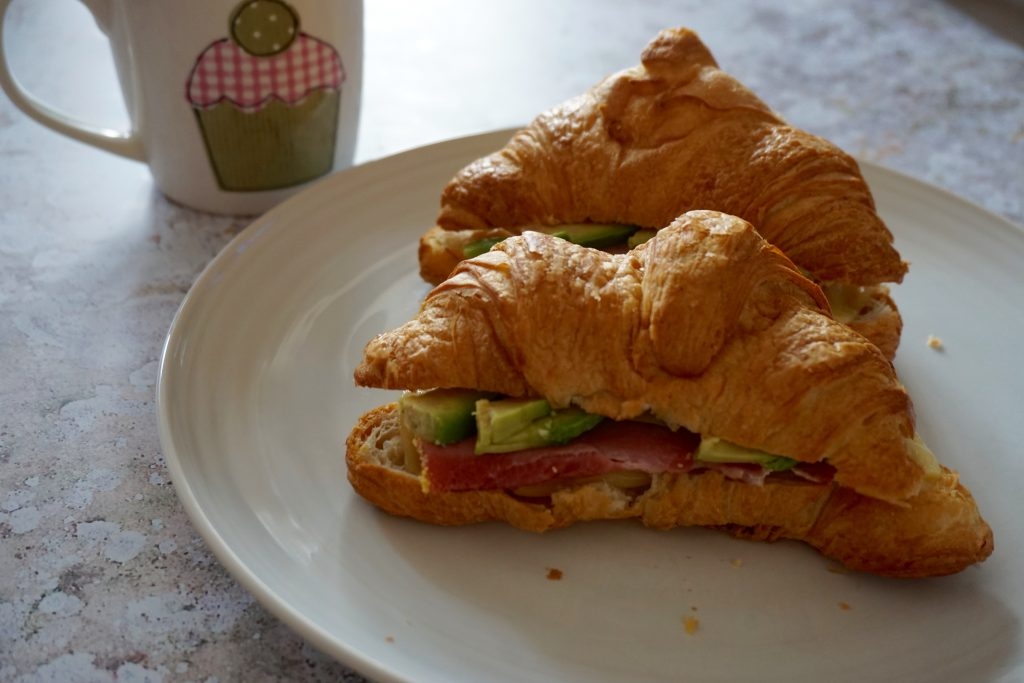 Sunday-Brunch-Filled-Croissant-Ham-Cheese-Avo