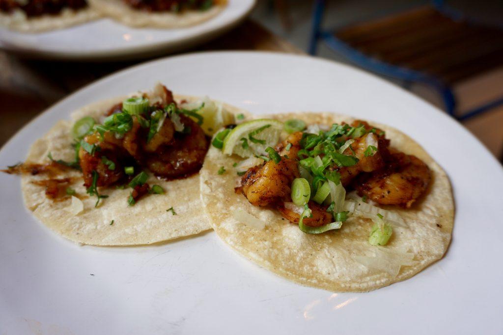 Boca Grande at The Plough - Black Pepper Prawn Tacos