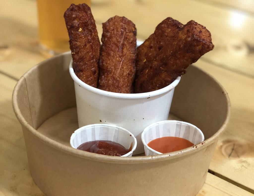 Halloumi fries from Hafla Hafla at Baltic Market