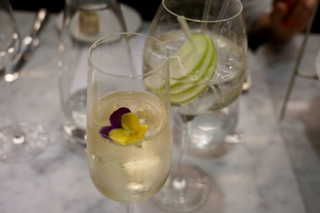 Harvey Nicols Edinburgh Gin Afternoon Tea - Pomegranate and Rose Fizz