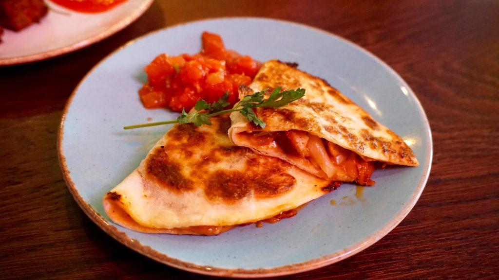 Las-Iguanas-Bottomless-Brunch-Chicken-Quesadilla
