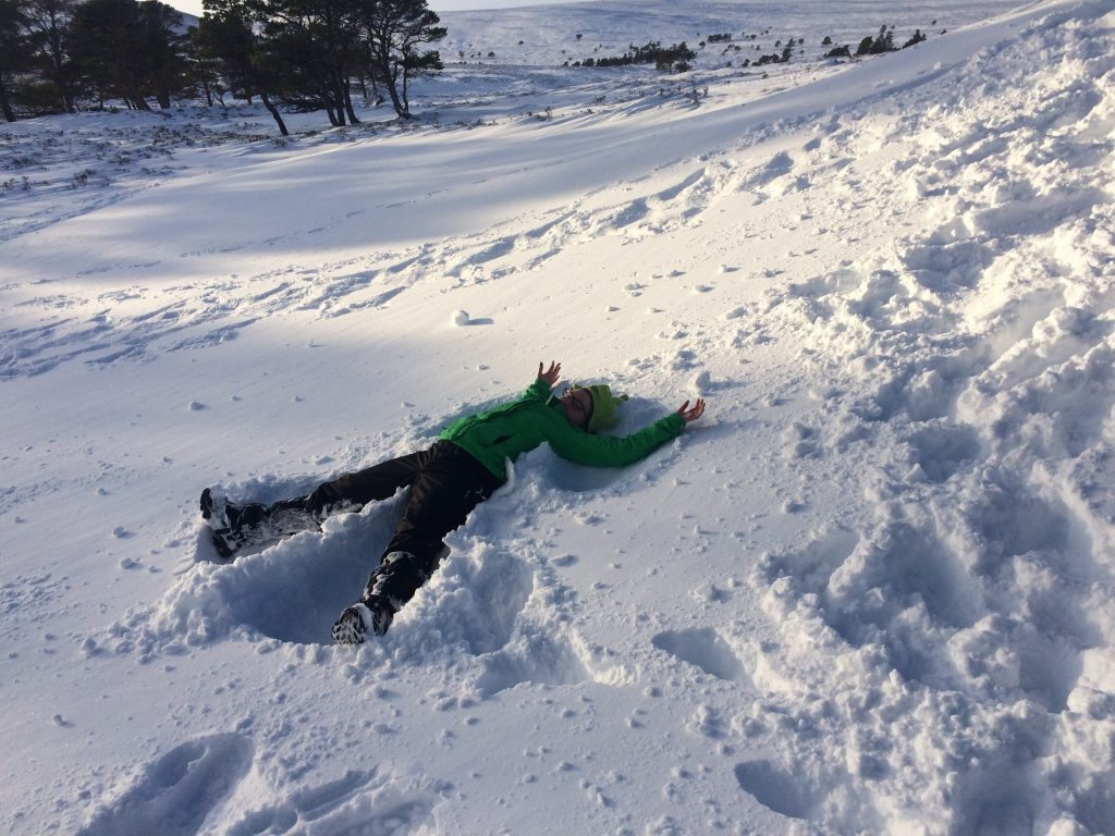 Snow-Angel-Winter-Hiking