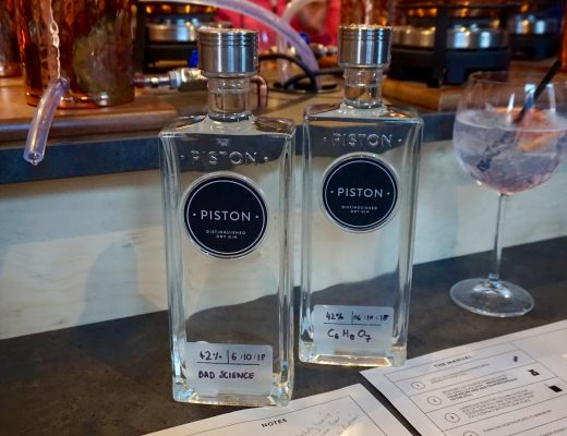 Piston Gin Bottles