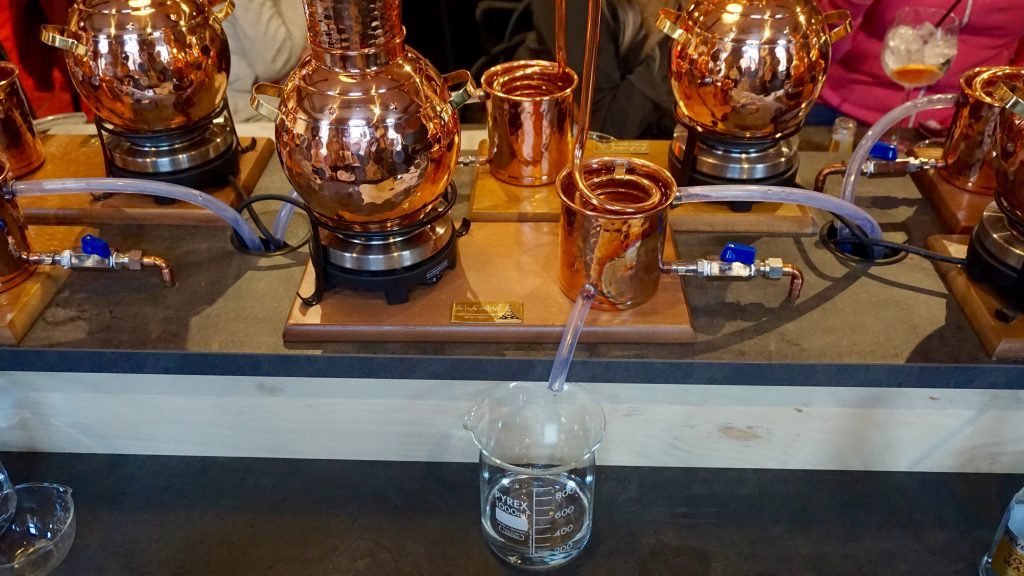 Piston Gin School - Gin Making - Gin Dripping Out of Condenser
