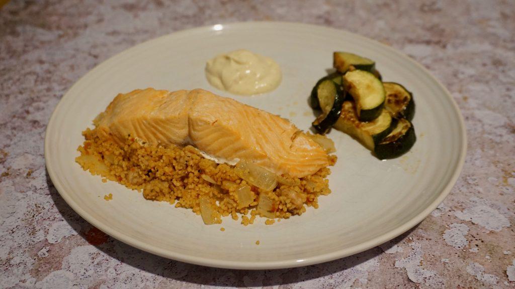 trout-cous-cous-brown-shrimp-plated-recipe