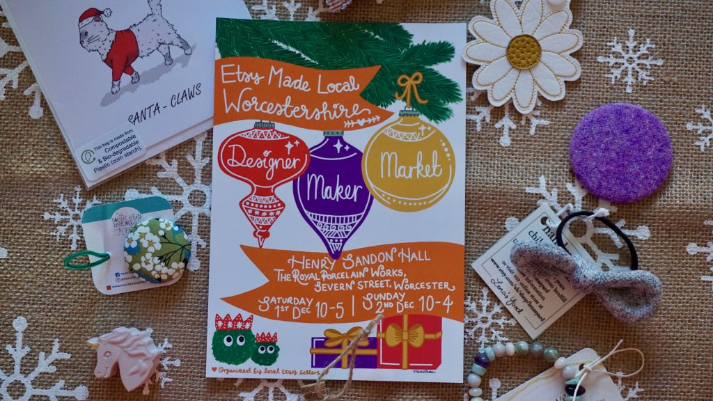 Worcestershire Etsy Local Makers Market Poster