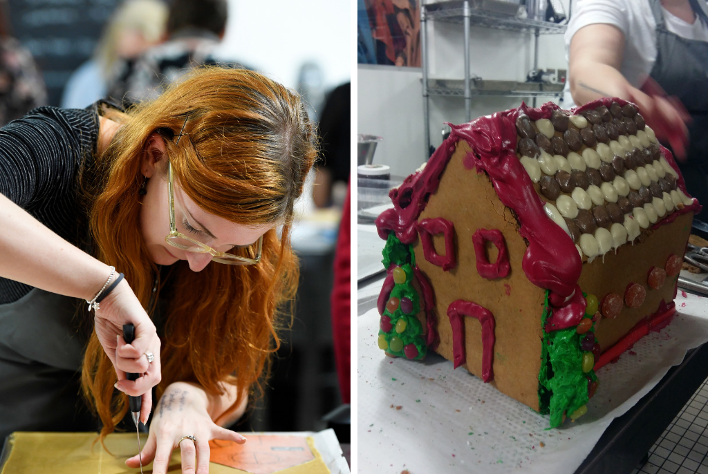 Ms-S-Making-her-Gingerbread-House-and-finished-house