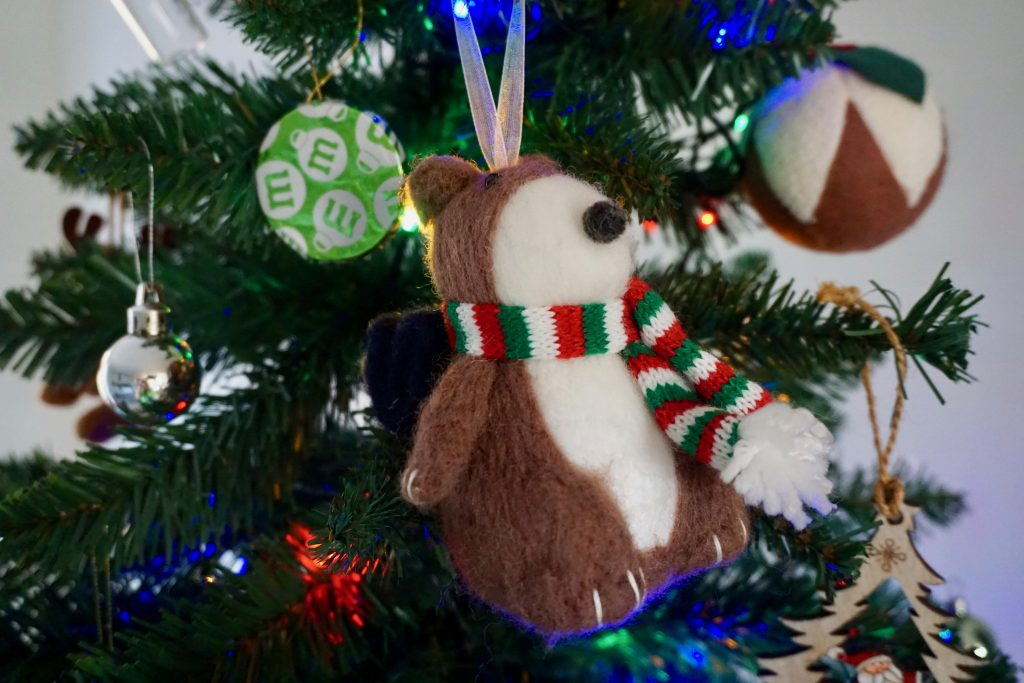 Teddy-with-backpack-Christmas-Decoration