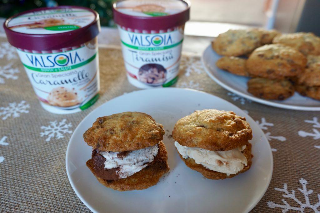 Vegan-Ice-Cream-Sandwiches-In-front-of-Vegan-ice-cream-tubs